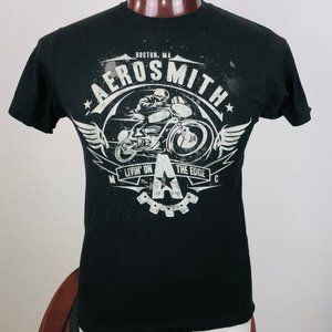 Aerosmith Livin' On The Edge Logo Graphic T Shirt